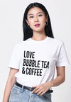 Love, Bubble Tea & Coffee Graphic T-shirt