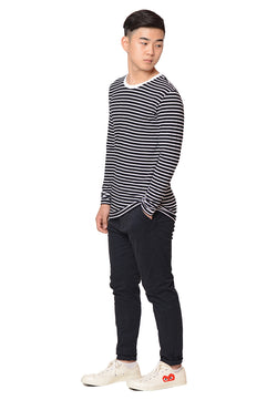 Stripes Long Sleeves Tee