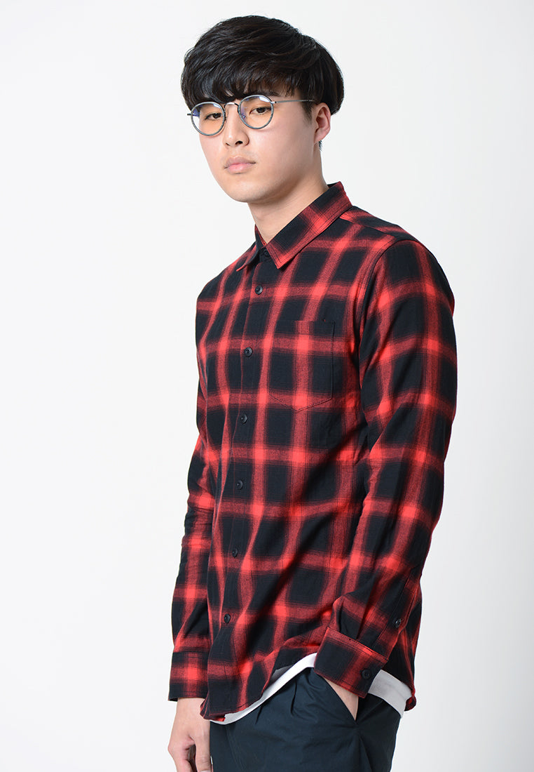 Long Sleeves Check Shirt