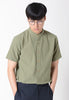 Stand Collar Short Sleeves Shirt