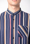 Vertical Stripe Long Sleeves Shirt