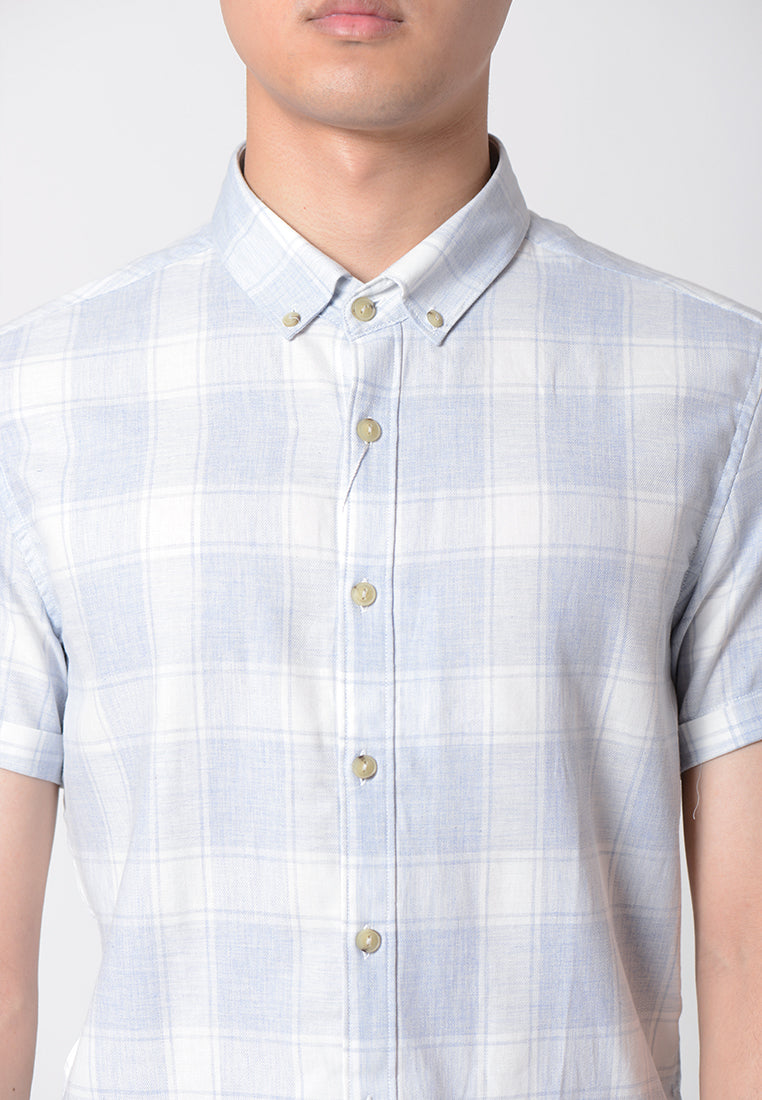 Short Sleeves Check Shirt