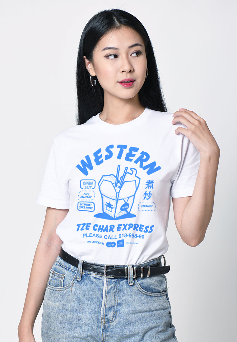 Western Tze Char Graphic T-shirt