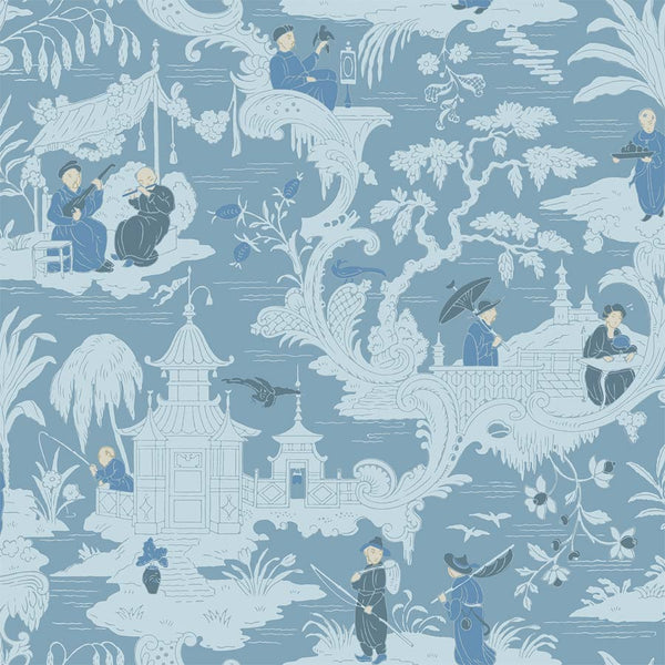 Chinese Toile, Blå, Tapet Cole & Son