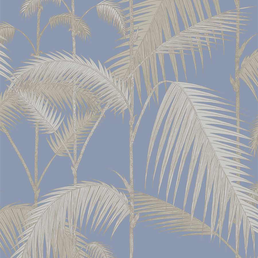 Palm Leave - palme tapet, blå - Cole & Son