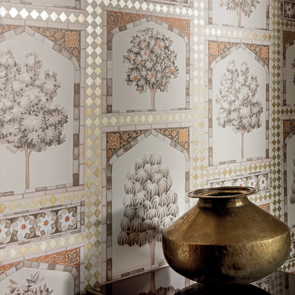 Sultans Palace tapet, gold / spice. Cole & Son