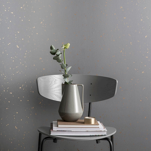 Ferm Living Tapet Confetti - Grey Gold/Guld.