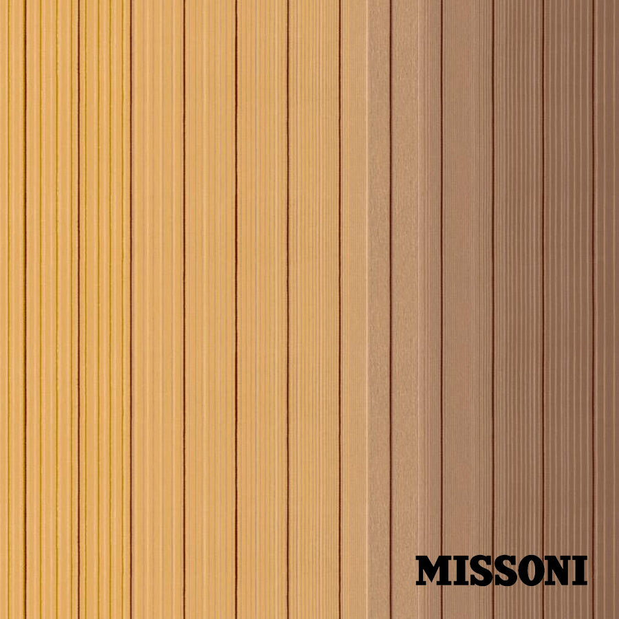 Missoni stribet tapet. nougat/gul, Vertical Stripe