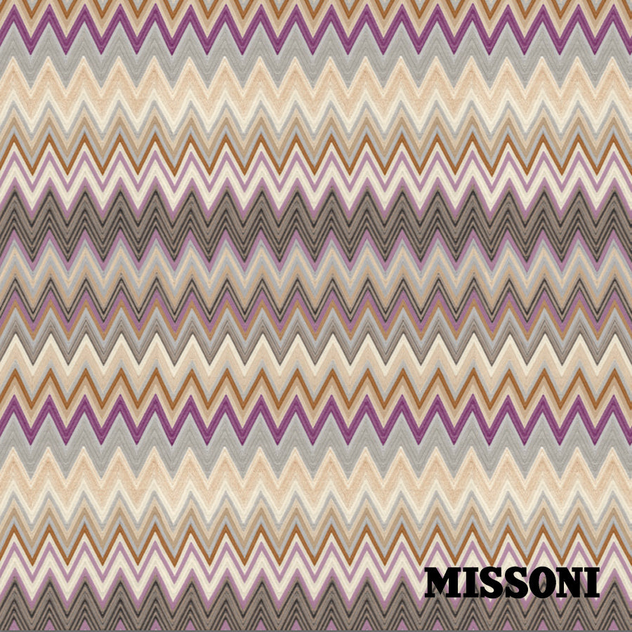 Missoni tapet. Rose sand, Zig zag multicolore