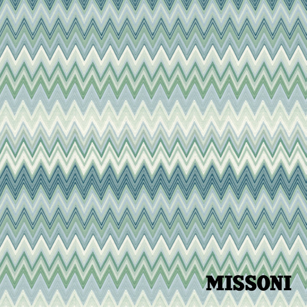 Missoni tapet. Aqua, Zig zag multicolore
