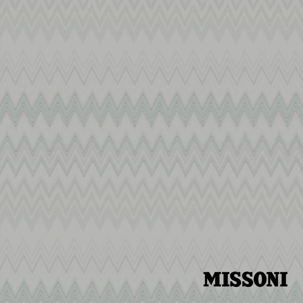Missoni tapet. Grey/Silver, Zig zag multicolore