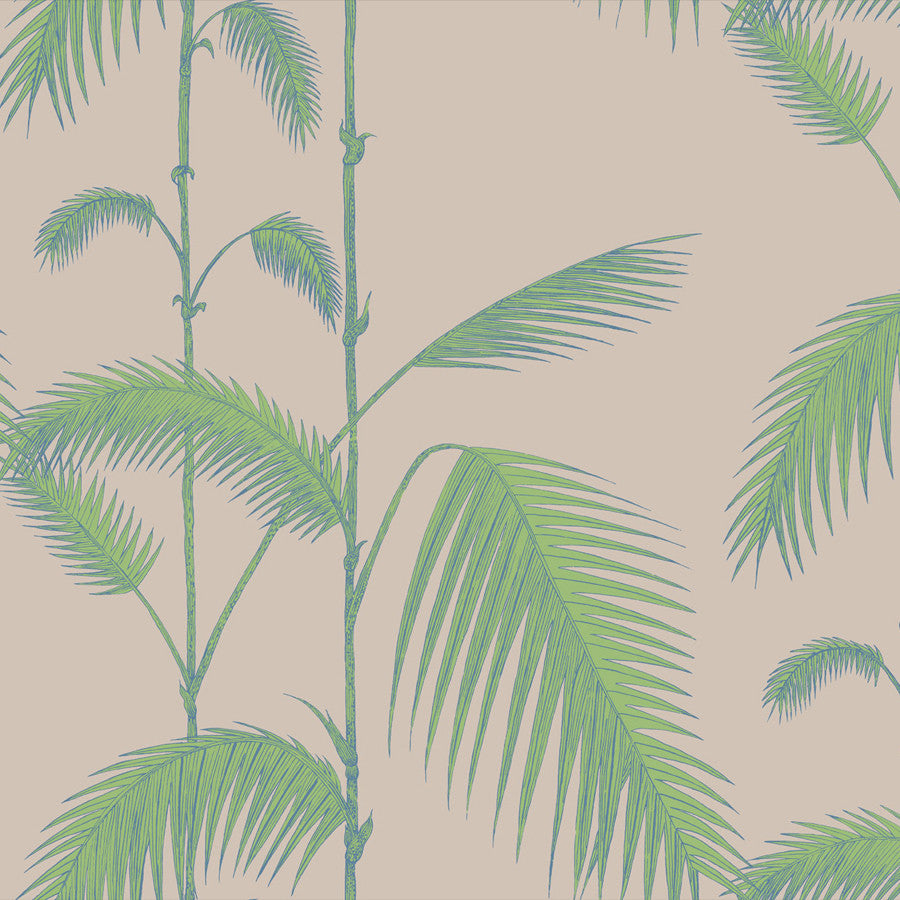 Palm Leaves Tapet, nougat/grøn. Cole & Son