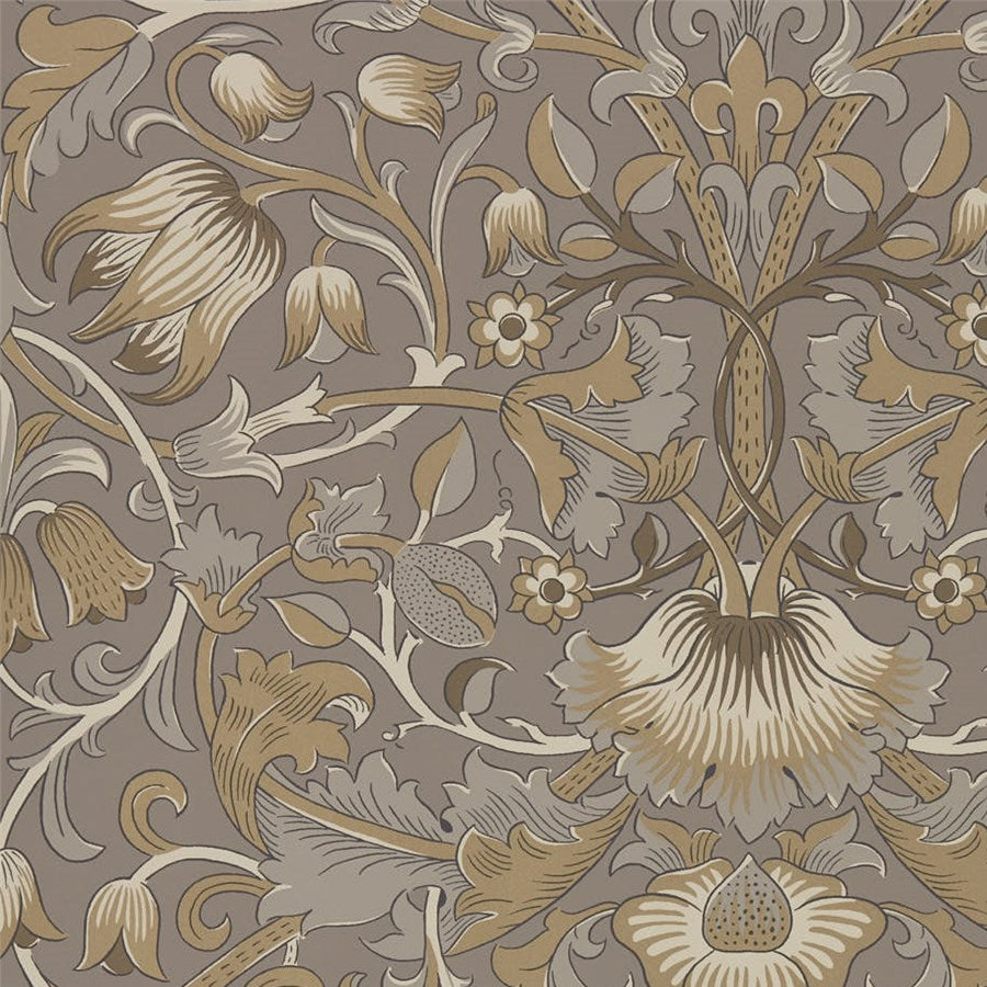 pure morris tapet taupe gold