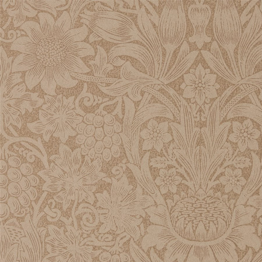 Pure Morris, Sunflower Tapet, kobber/rødbrun. William Morris