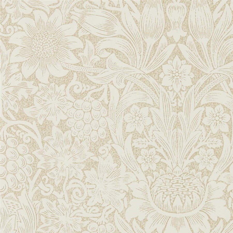 Pure Morris, Sunflower Tapet, gold/parchment. William Morris