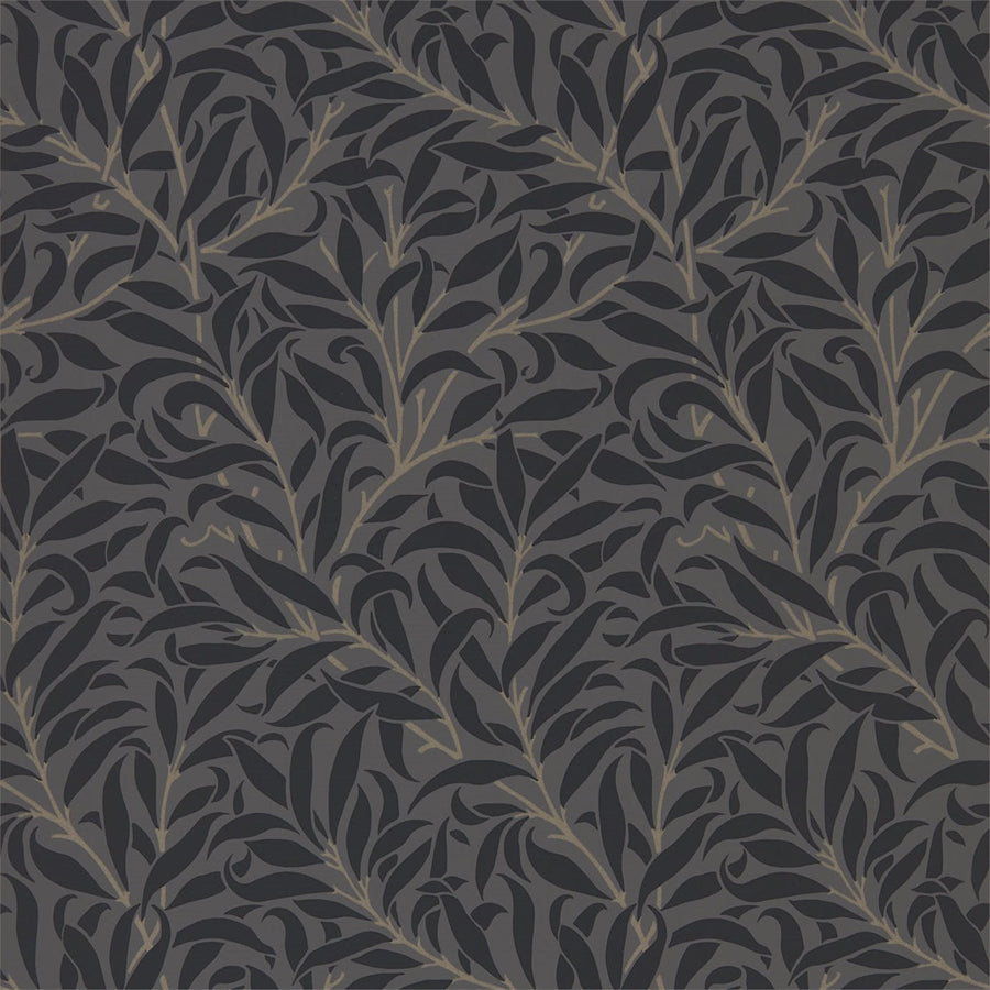 Pure Willow Bough Tapet, black/charcoal. William Morris