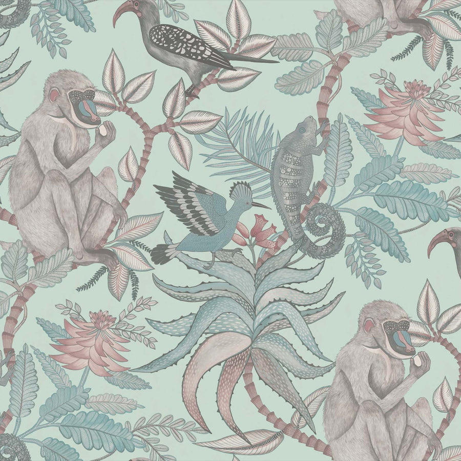 Savuti savanne tapet, duckegg / multi. Cole & Son