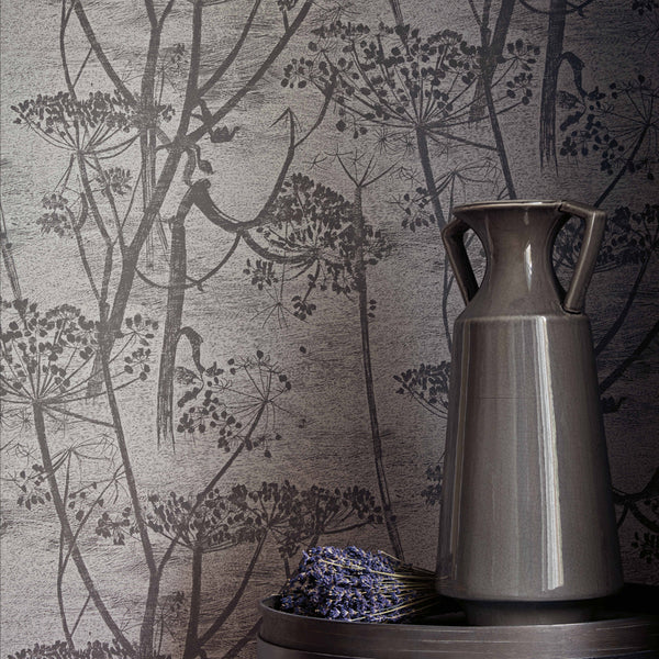Cow Parsley, Tapet, koksgrå/kit. Cole & Son