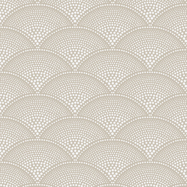 Feather Fan Tapet, nougat/hvid. Cole & Son