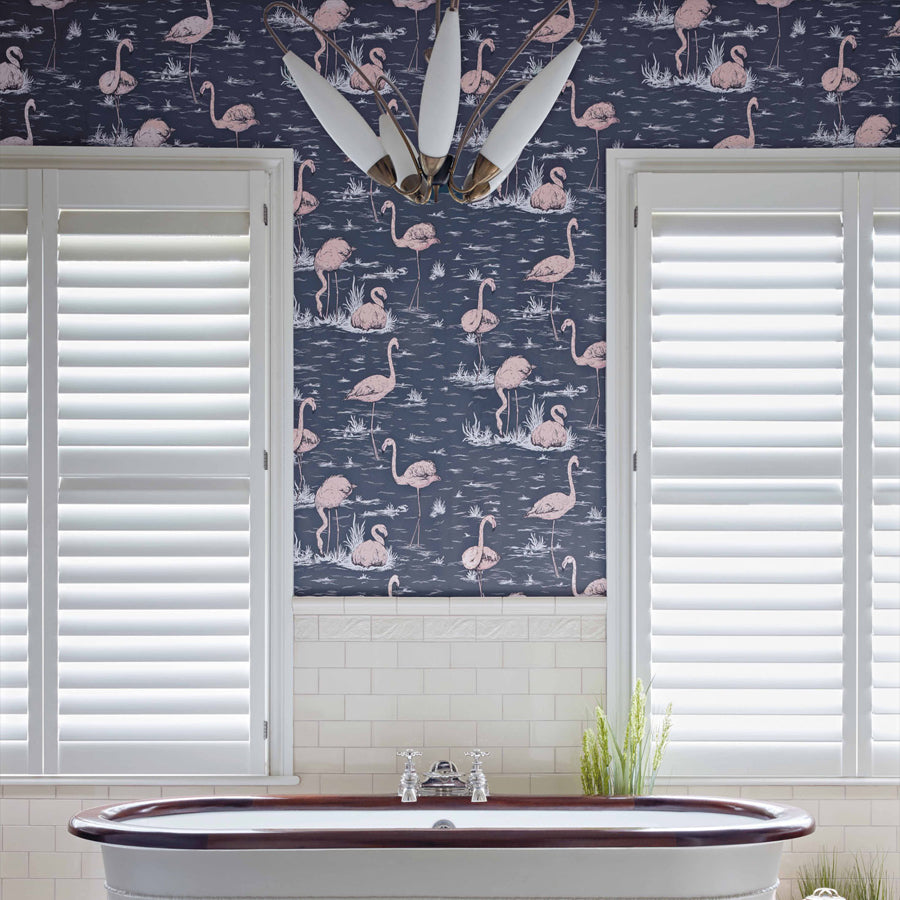Flamingo Tapet, inkblue/rosa. Cole & Son