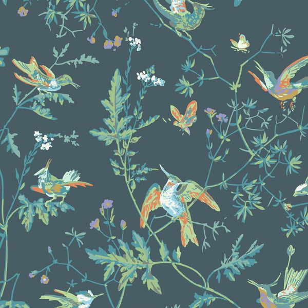 Hummingbird kolibri Tapet. Peacock - Cole & Son Icons