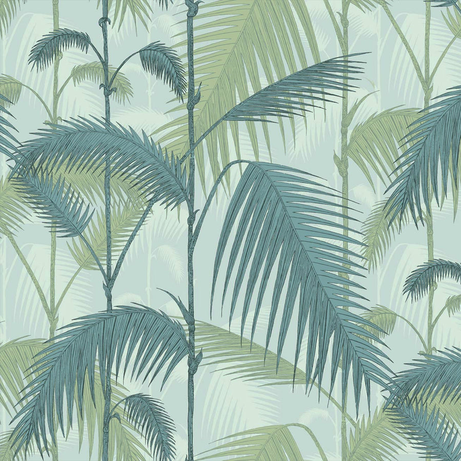 Palm Jungle Tapet. Duckegg & greens - Cole & Son Icons