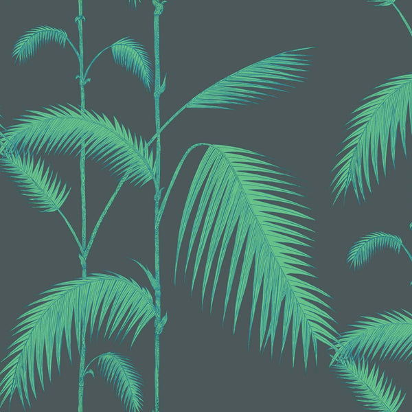 Palm Leaves Tapet. Viridian/lime. Cole & Son Icons