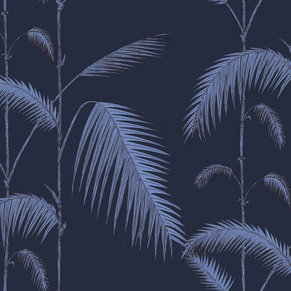 Palm Leaves Tapet. Ink/violet. Cole & Son Icons