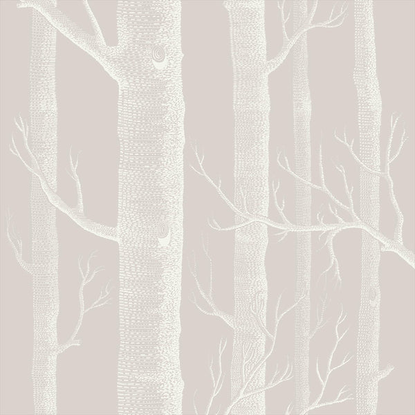 Woods Tapet. Linen/white, Cole & Son Icons