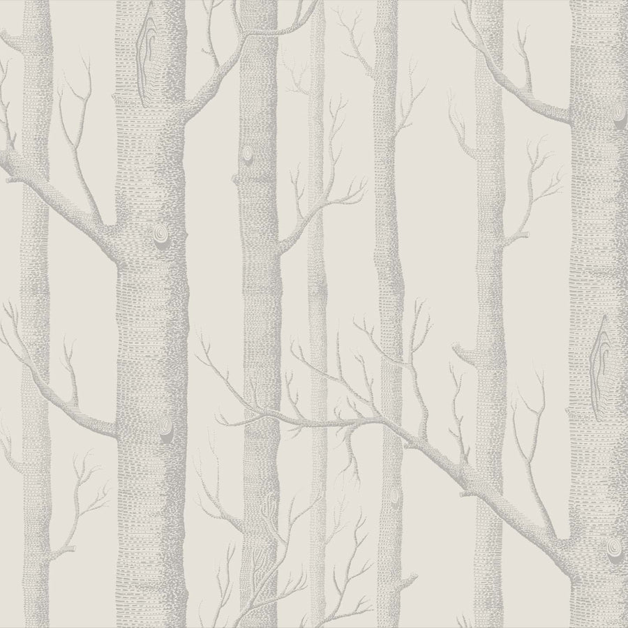 Woods Tapet. Cream/pale grey, Cole & Son Icons