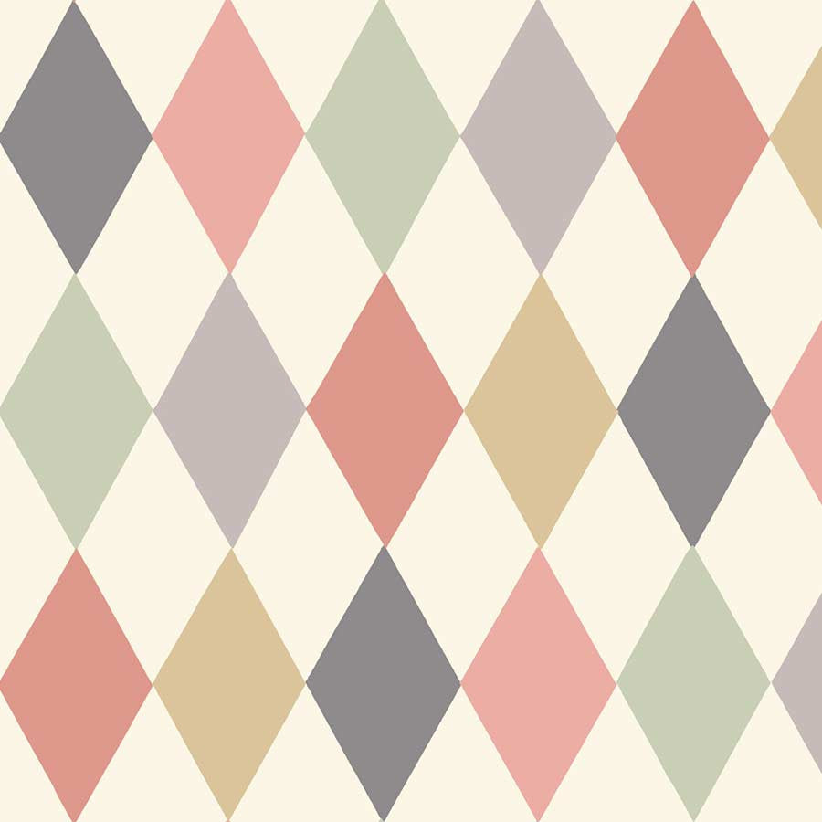 Punchinello Harlekin Tapet - sorbet. Cole & Son