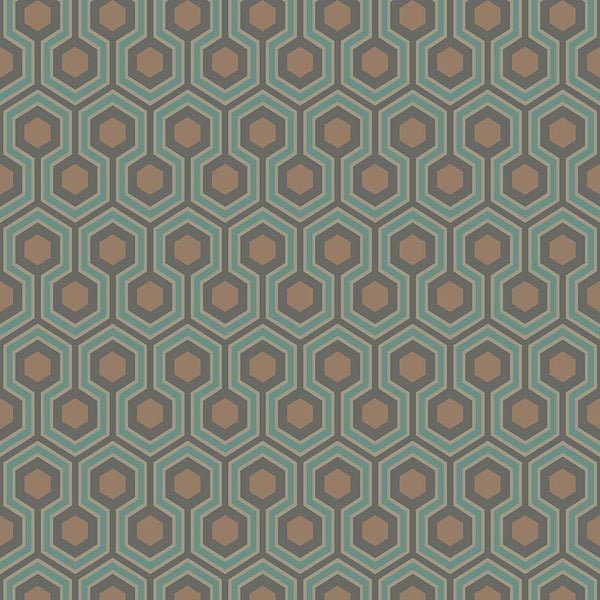 Hicks Hexagon Tapet - grøn - Cole & Son