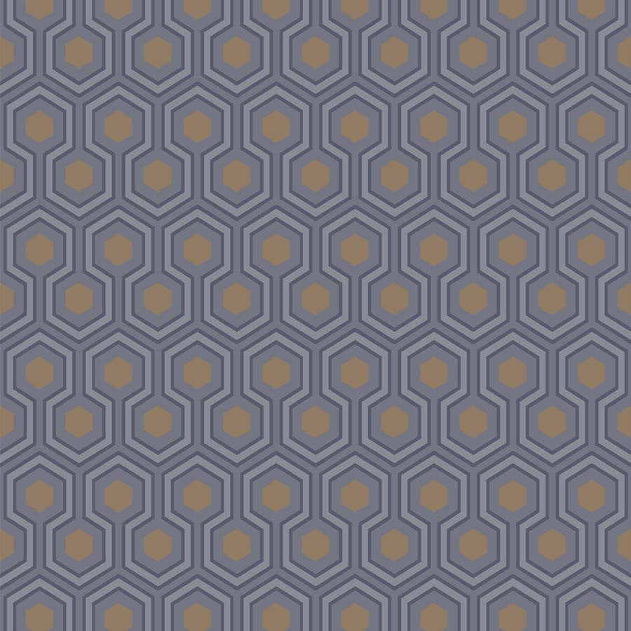 Copy of Hicks Hexagon Tapet - blå - Cole & Son