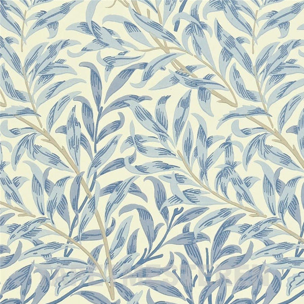 Willow Bough Tapet. Blå / creme. William Morris tapet.