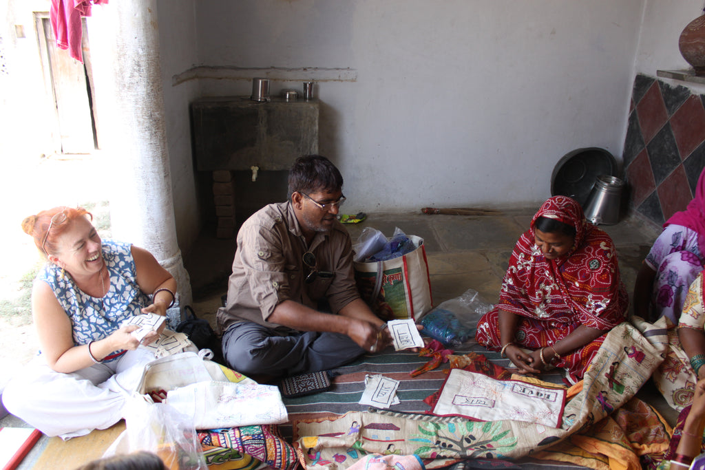 Fiona and Praveen from The Stitching Project | The Anjelms Project