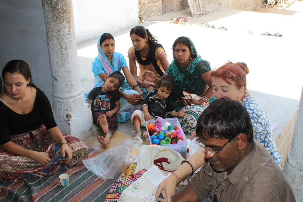 Madeleine Beech at The Stitching Project, in Pushkar, India | The Anjelms Project