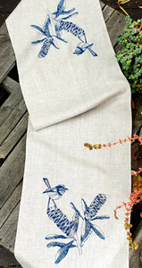 Table Runner - Blue Wren & Banksia