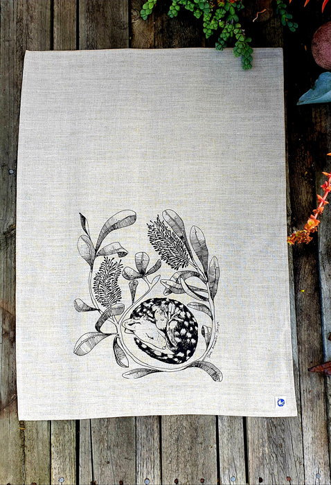 Tea Towel - Sleeping quoll