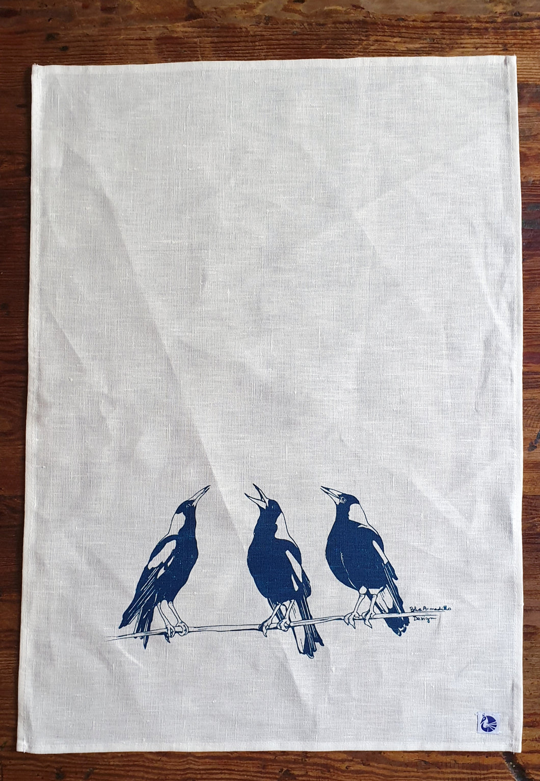 Tea Towel - Three Magpies