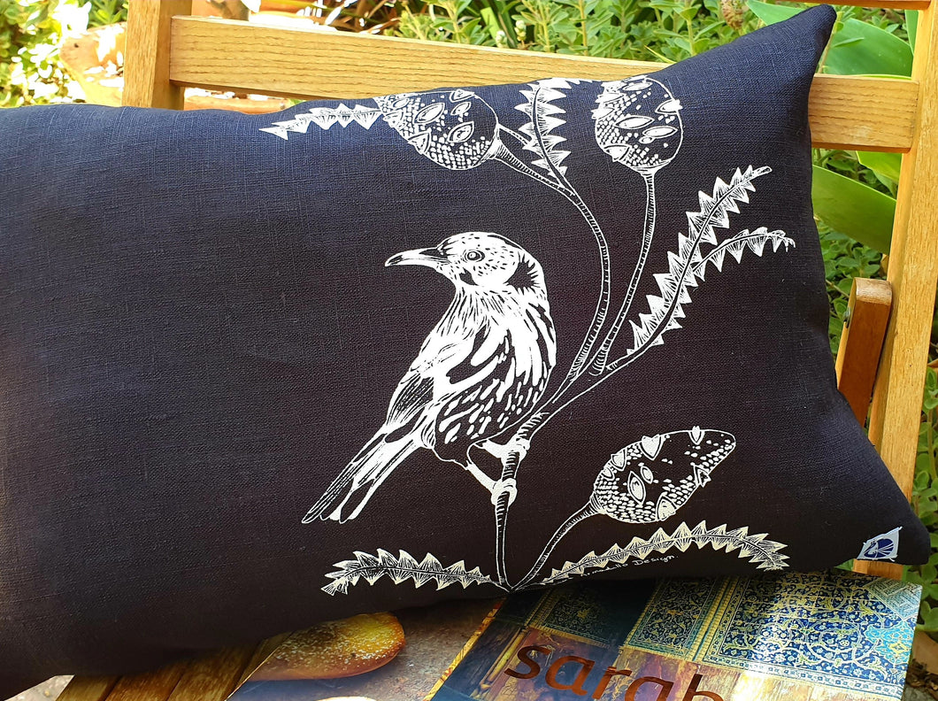 Cushion Cover - Honey Eater & Banksia