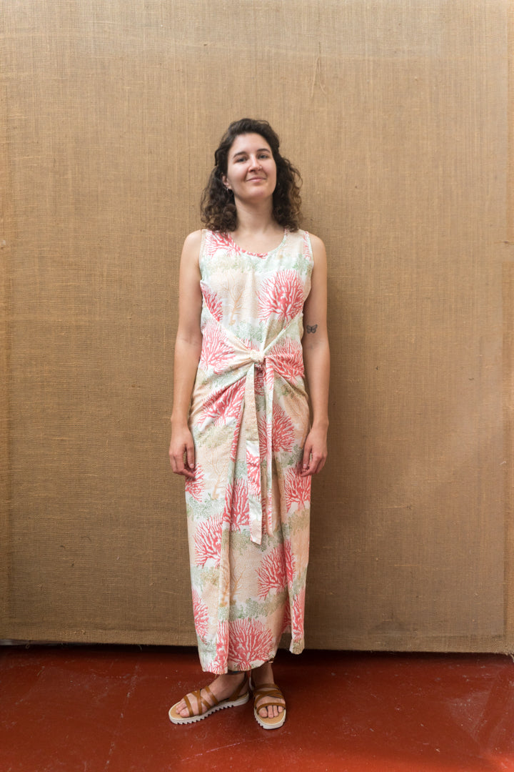 Wrap Dress - Coral Print-Women-The ANJELMS Project