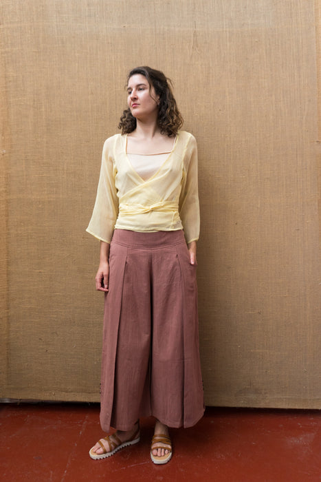 Pleat Wide Leg Pants - Catchu-Women-The ANJELMS Project