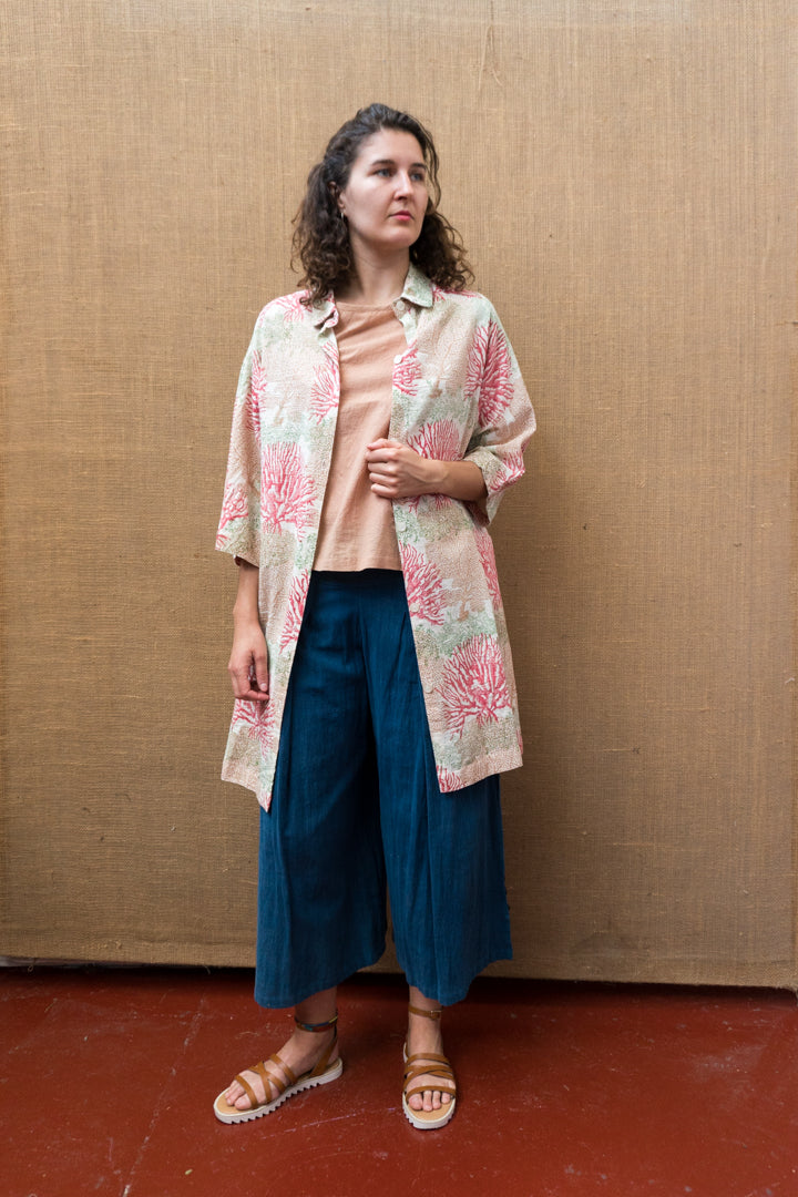 Pleat Wide Leg Pants - Indigo-Women-The ANJELMS Project