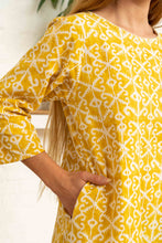 Load image into Gallery viewer, Half Sleeve Dress Moroccan Print Yellow-Women-The ANJELMS Project