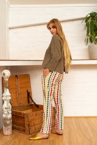 Tailored Pants Diamond Print-Women-The ANJELMS Project