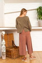 Load image into Gallery viewer, Long Sleeve Button Top Pomegranate/Iron-Women-The ANJELMS Project
