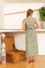 Load image into Gallery viewer, Wrap Dress Silk Cotton Moroccan Print Olive-Women-The ANJELMS Project