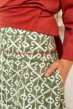 Load image into Gallery viewer, Maxi Skirt Moroccan Print Olive-Women-The ANJELMS Project