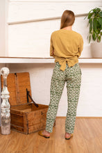 Load image into Gallery viewer, Tailored Pants Moroccan Print Olive-Women-The ANJELMS Project