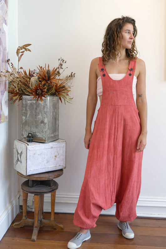 Drop Crotch Overalls-Women-S-Madder-The ANJELMS Project